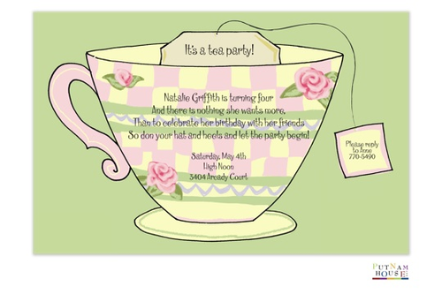 Tea Party Invitations for adults and children NEW selections Summer